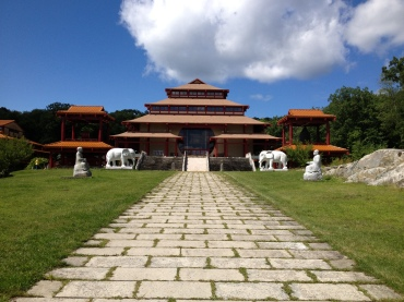 Chuang Yen Monastery in Kent, NY. Visitors are welcome, and walking the grounds is worth the visit.